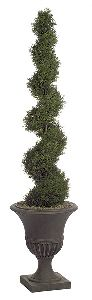 Artificial Topiary Trees, Outdoor Topiary, 6 feet   Cypress Spiral Topiary
